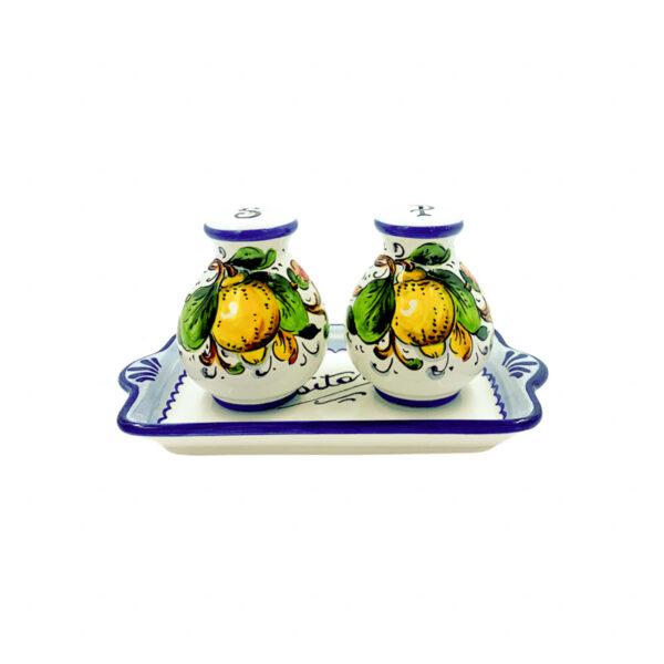 Set sale e pepe limone blu