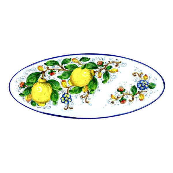 Vassoio ovale grande limone blu