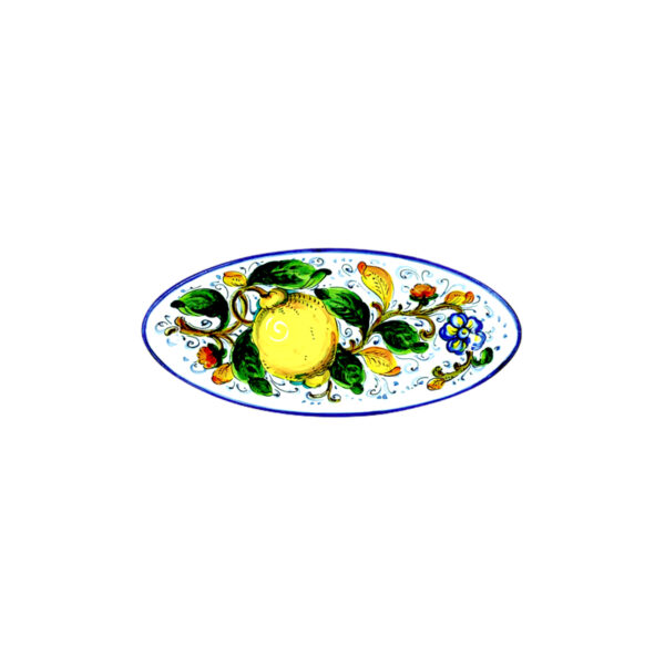 Vassoio ovale piccolo limone blu