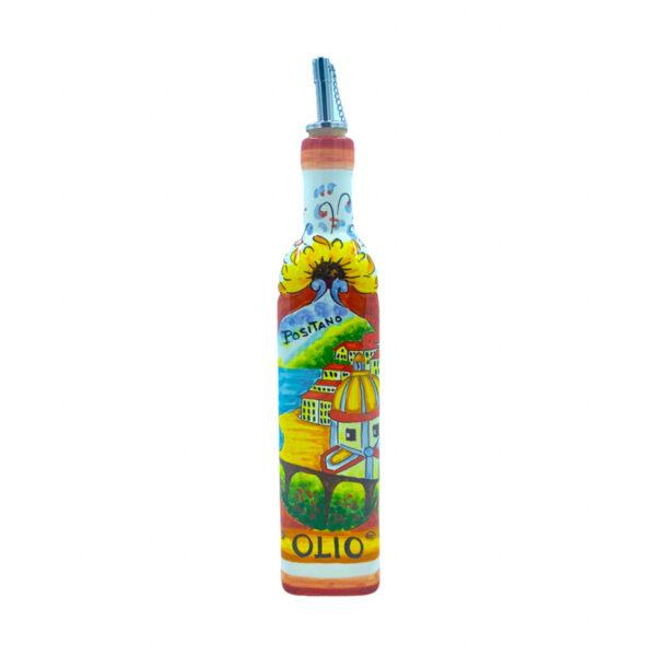 Bottiglia olio positano e limoni