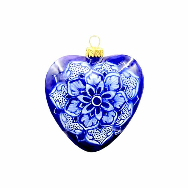 Pallina Cuore Geometrico Blu Ceramica Assunta Positano