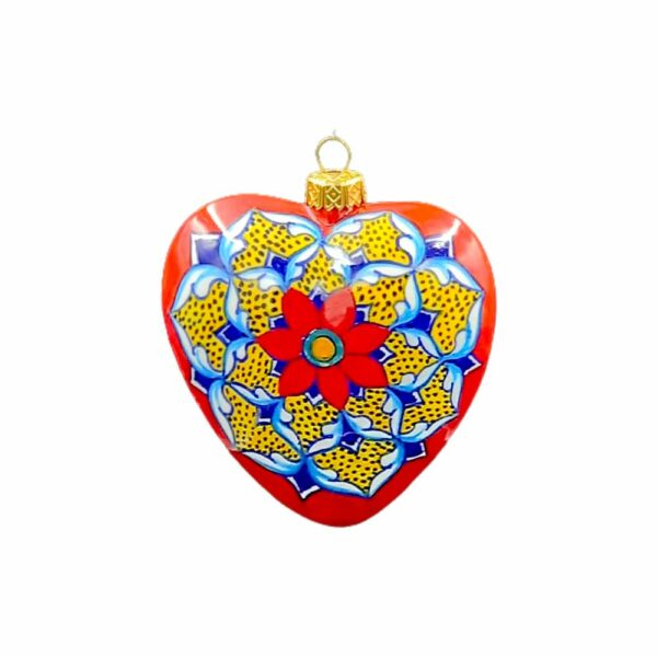 Pallina Cuore Geometrico Rosso Ceramica Assunta Positano