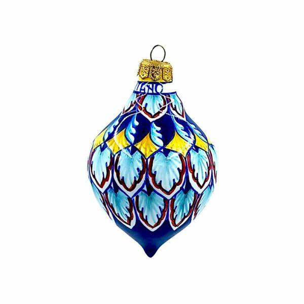 Pallina goccia grande geometrico blu Ceramica Assunta Positano