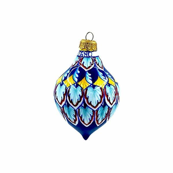 Pallina goccia media geometrico blu Ceramica Assunta Positano
