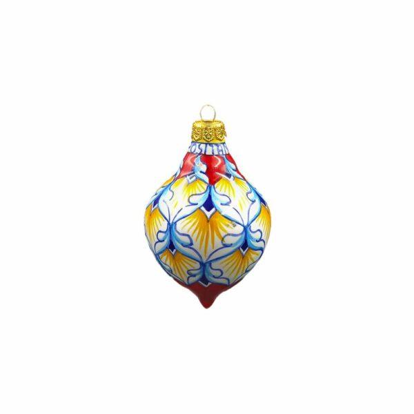Pallina goccia piccola geometrico rosso Ceramica Assunta Positano